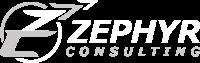 Zephyr hvidt logo